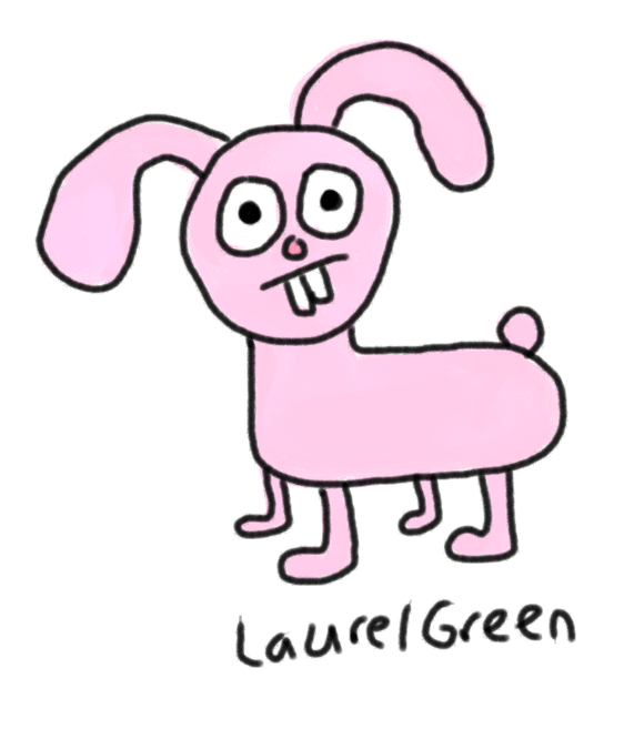 A bad drawing of a rabbit