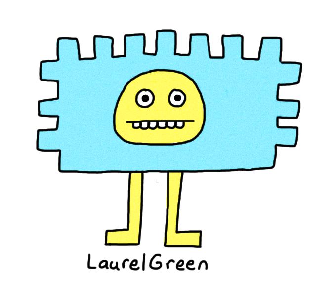 a drawing of a rectangular critter