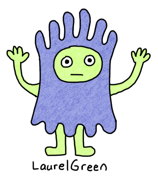 a drawing of a lumpy person
