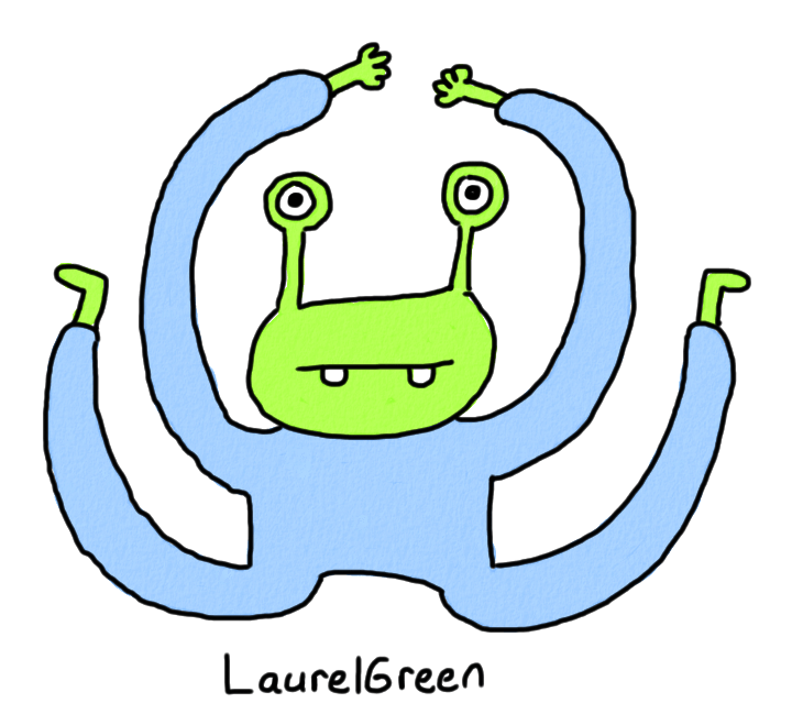 a drawing of a creature with very bendy limbs