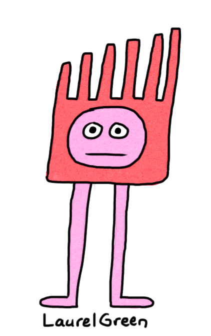 a drawing of a critter with long legs