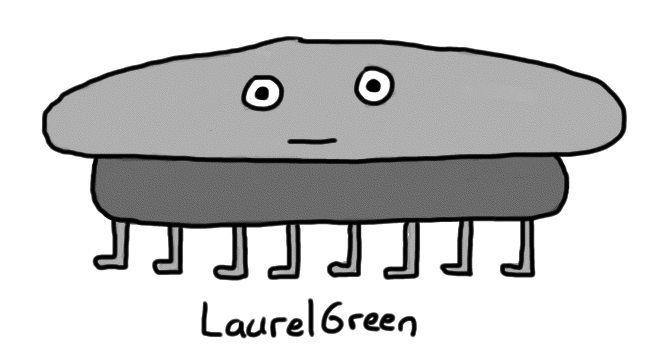 a drawing of a wide grey creature with eight legs