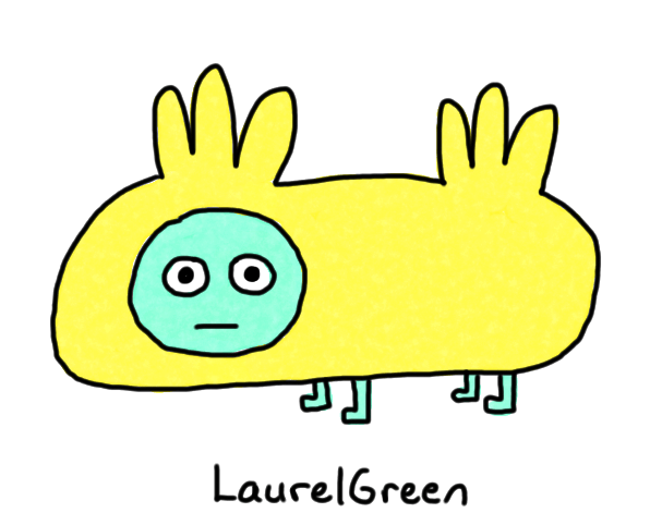 a drawing of a weird quadrupedal thing