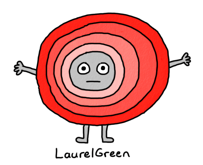 a drawing of a round creature that looks unhappy