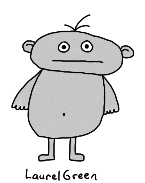 a drawing of a naked grey person