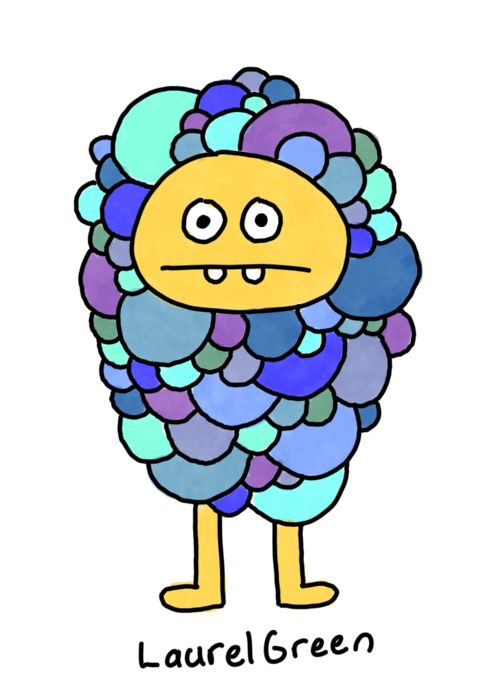 a drawing of a creature that is made up of a bunch of bubbles