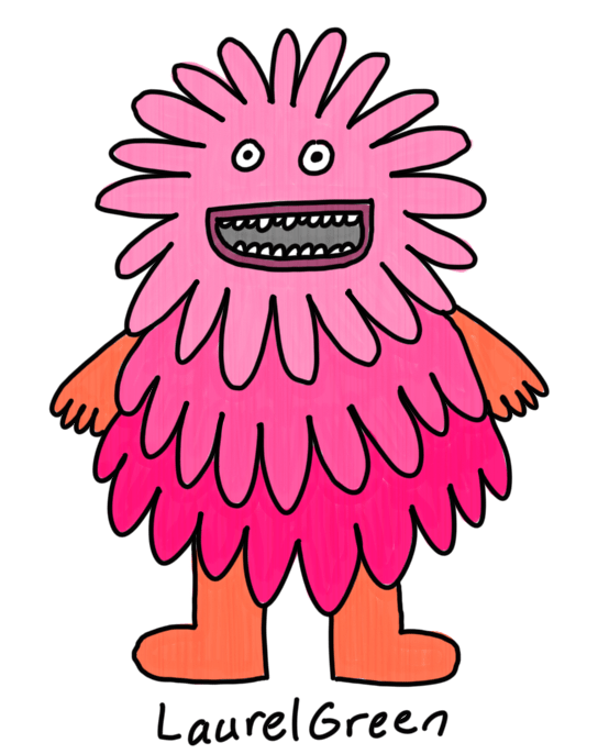 a drawing of a large, flowery monster