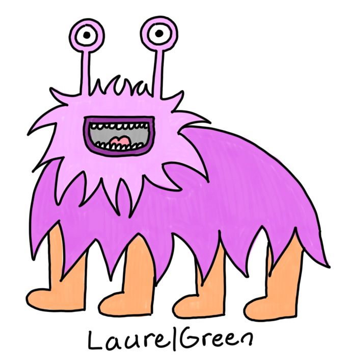 a drawing of a purple extraterrestrial quadruped with eyestalks