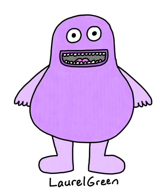 a drawing of grimace from McDonald's