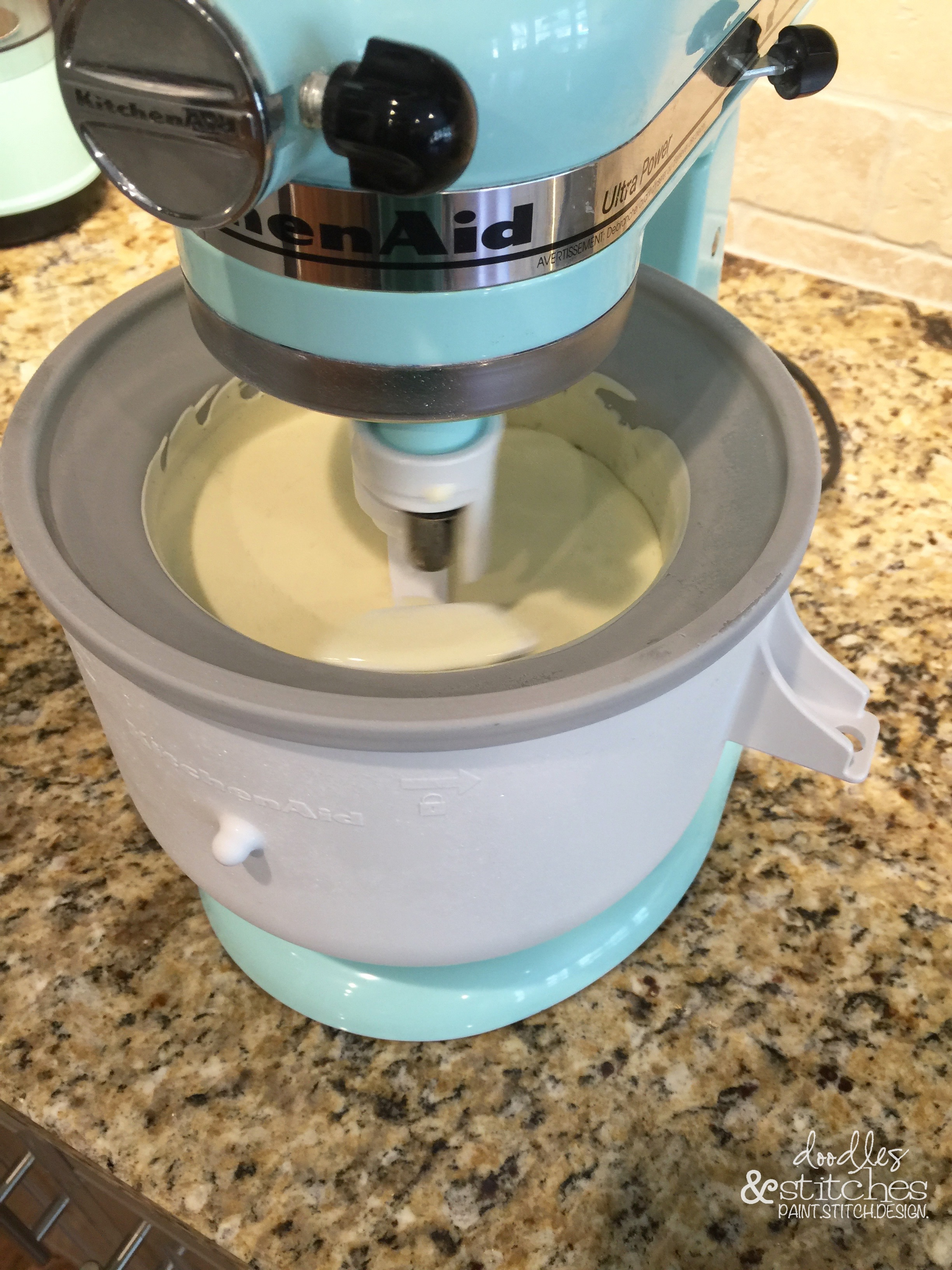 how to make ice cream with kitchenaid attachment