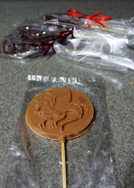 Chocolate Dragon on a Stick