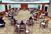 कैबिनेट मीटिंग में सोशल डिस्टेंसिंग