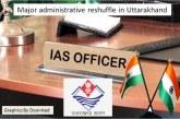 उत्तराखंड में बड़ा प्रशासनिक फेरबदल, 16 आईएएस अधिकारियों के तबादले