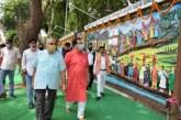 विधानसभा परिसर की दीवार पर नंदादेवी राजजात यात्रा को भित्ति चित्र के रूप में प्रदर्शित किया गया