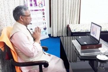 मुख्यमंत्री ने उत्तराखंड त्रासदी पीड़ित मंच के वर्चुअल ''श्रद्धांजलि व प्रार्थना सभा'' में प्रतिभाग किया