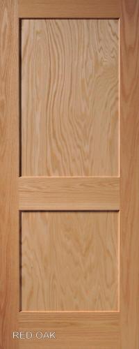Red Oak Mission 2 Panel Wood Interior Doors Homestead Doors