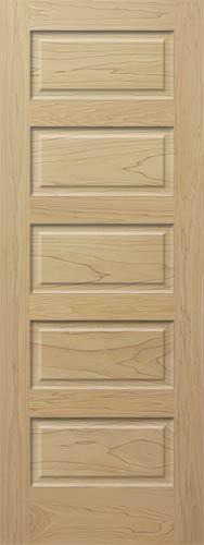 Poplar Horizontal 5 Panel Wood Interior Doors Homestead