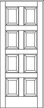 RP-8000 8-Panel Door