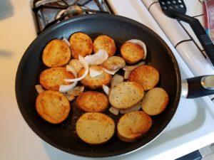 potatoes browned