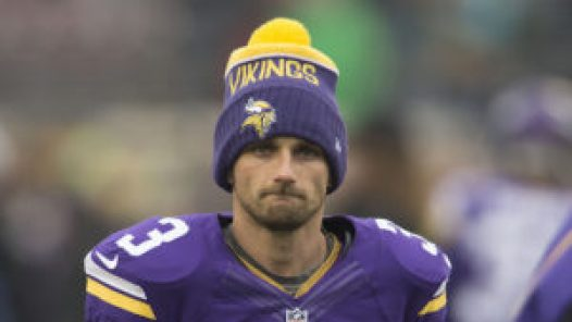 MINNEAPOLIS, MN - DECEMBER 6: Blair Walsh #3 of the Minnesota Vikings warms up prior to an NFL game against the Seattle Seahawks at TCF Bank Stadium December 6, 2015 in Minneapolis, Minnesota. (Photo by Tom Dahlin/Getty Images)