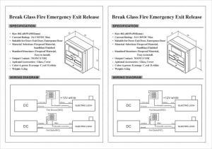 Manual Break Glass Call Point Access Control System For Exit Door  Emergency Door