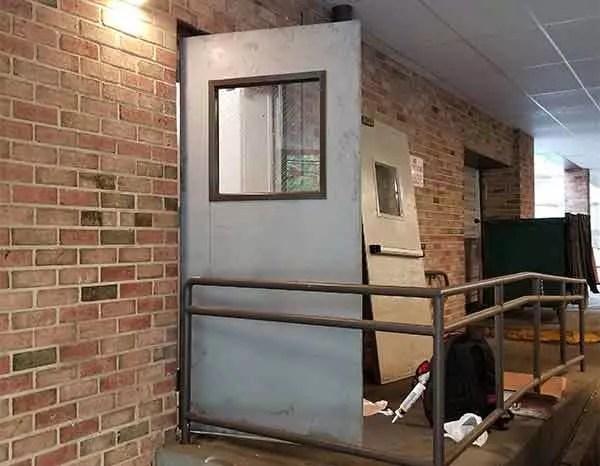 fire proof door replaced