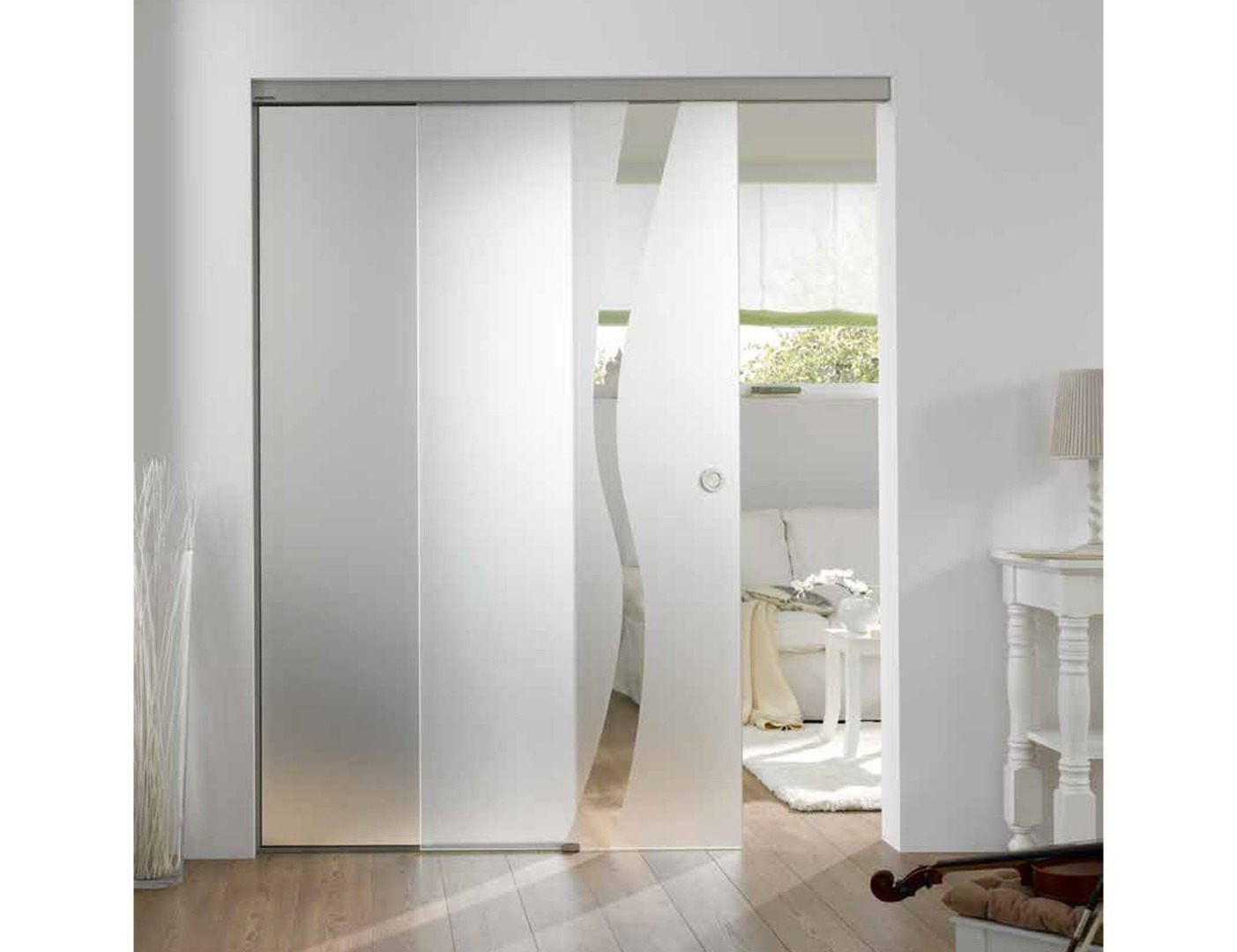 Wave Type 8 Glass Door Design Glass Room Divider