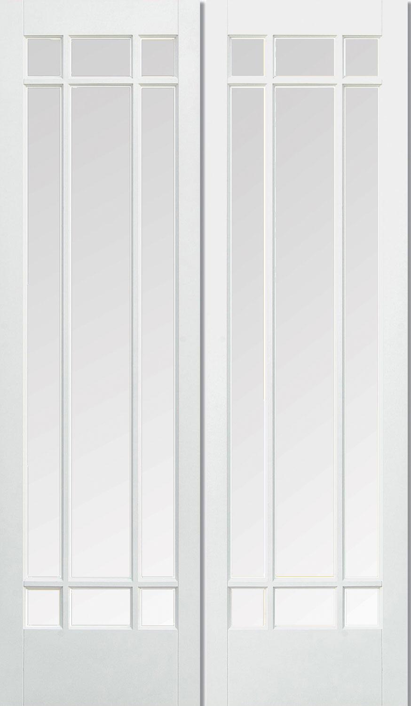 Manatten White Interior Door Pair