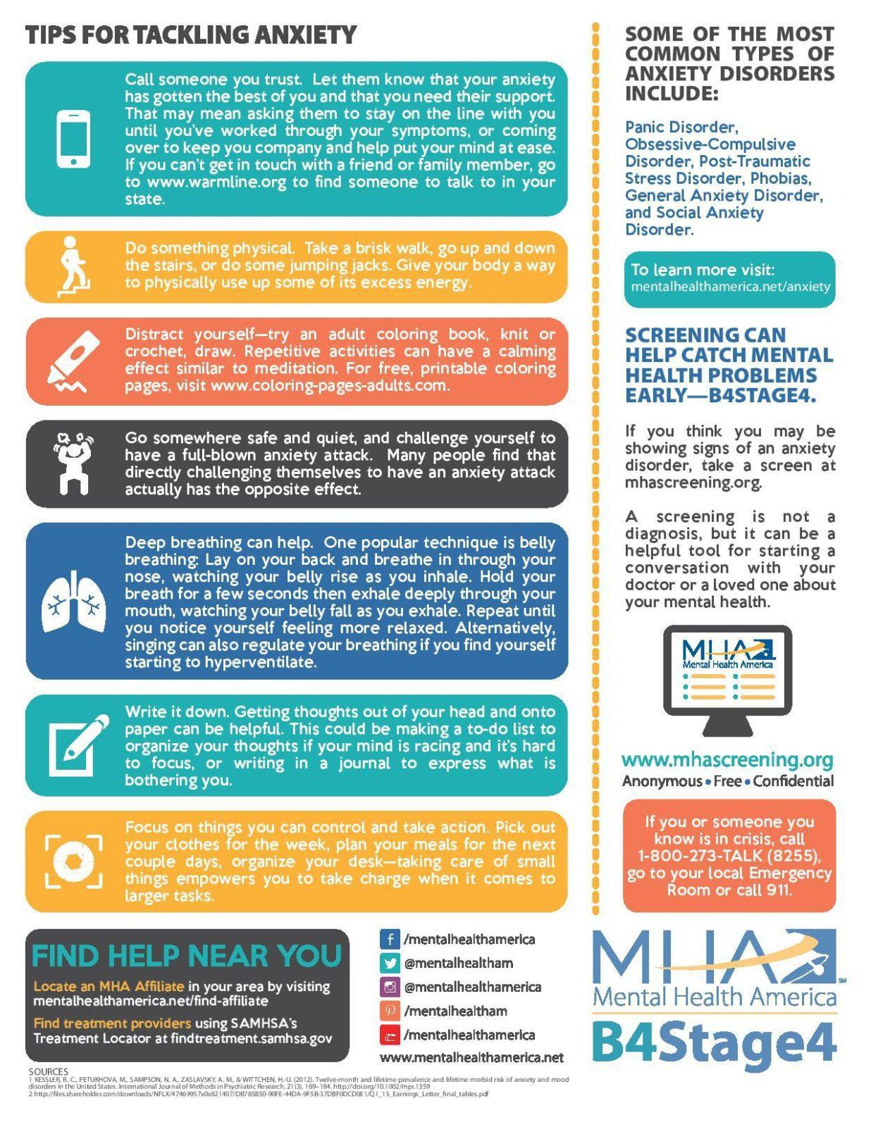 Life With Anxiety Fact Sheet