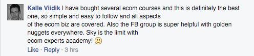 best course, facebook group helpful