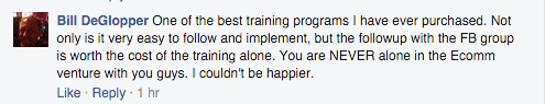 fb group worth cost of training alone