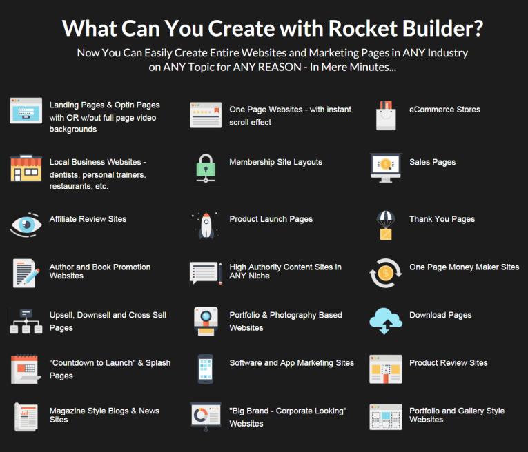 Rocket Builder features