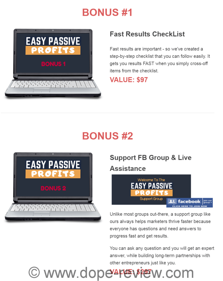 Easy Passive Profits Bonus
