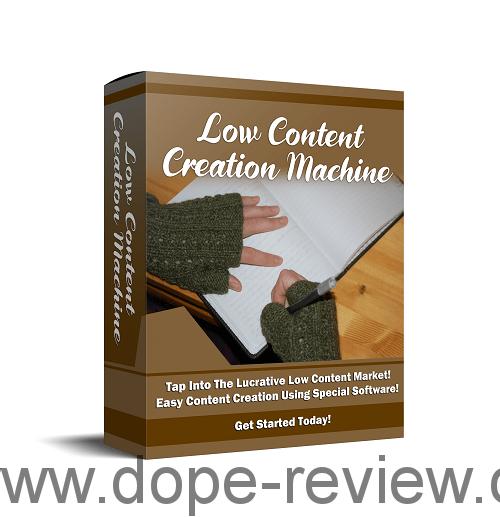 Low Content Creation Machine