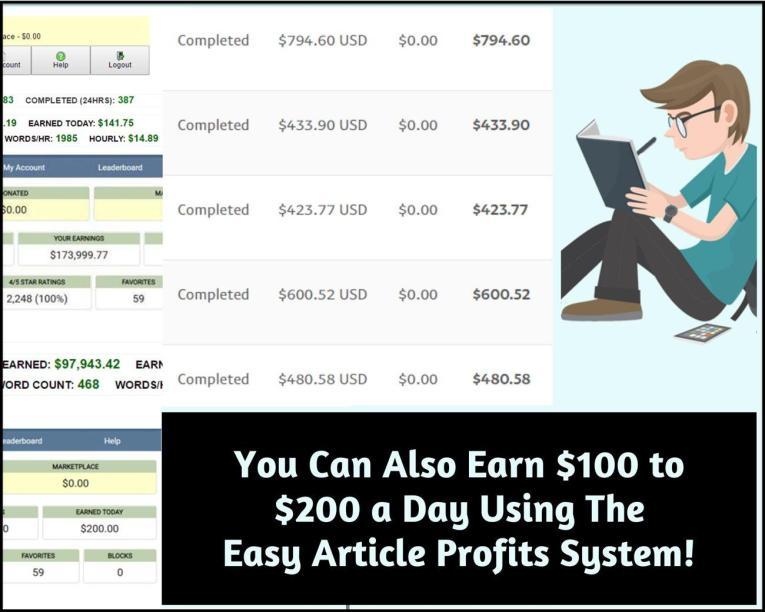 EZ Article Profits Review