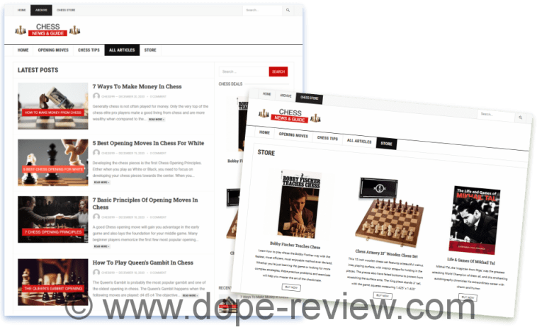 WP Chess Website Review