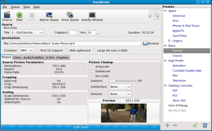 handbrake video converter Dopitech