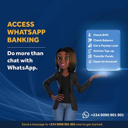 Access Whatsapp Banking