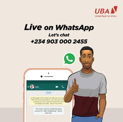 UBA WhatsApp banking