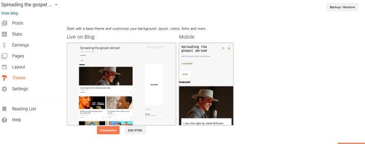 Edit blogger html
