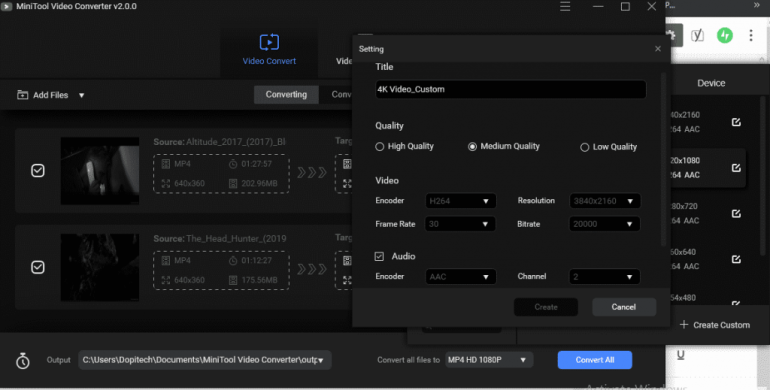 Minitool Video Converter review