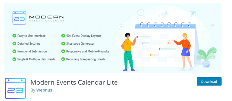 Modern Events Calendar