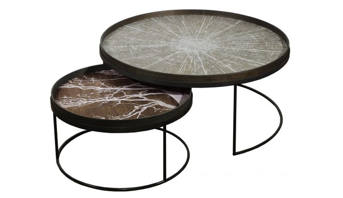 notre monde tray low xl coffee table set round l xl