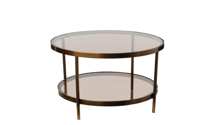 pols potten coffee table double amber glass round