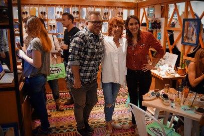 Pablo Czentorycky, Cris Rodríguez y Florencia Battilana