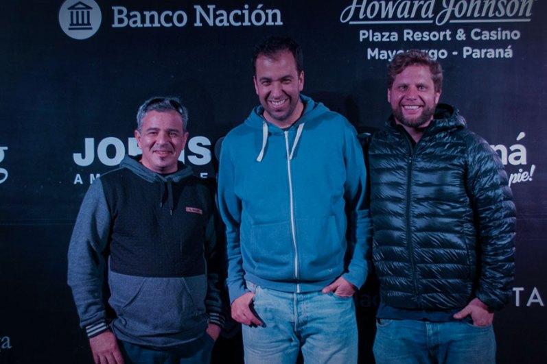 Diego Trevisan, Lucas Lovera y Segismundo Blachowicz