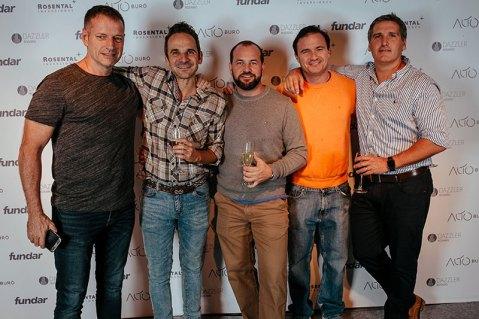 Guillermo Lima, Mariano Arregui, Luis Boero, Maximiliano Lombardi y Lucas Di Lena