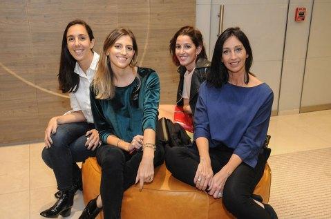 Carolina Delio, Karen Lukoski, Carmen Asenjo y Paola Brussa