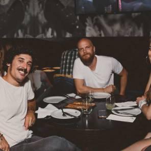 Marito Santilli, Nacho Negri y Romina Arbaiza