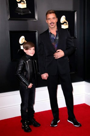 Ricky Martin y su hijo Matteo